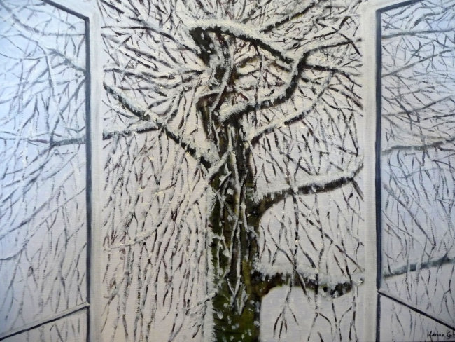 The Tree across the Road - Winter - Greetings card