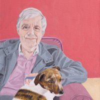 Man and Dog Portrait