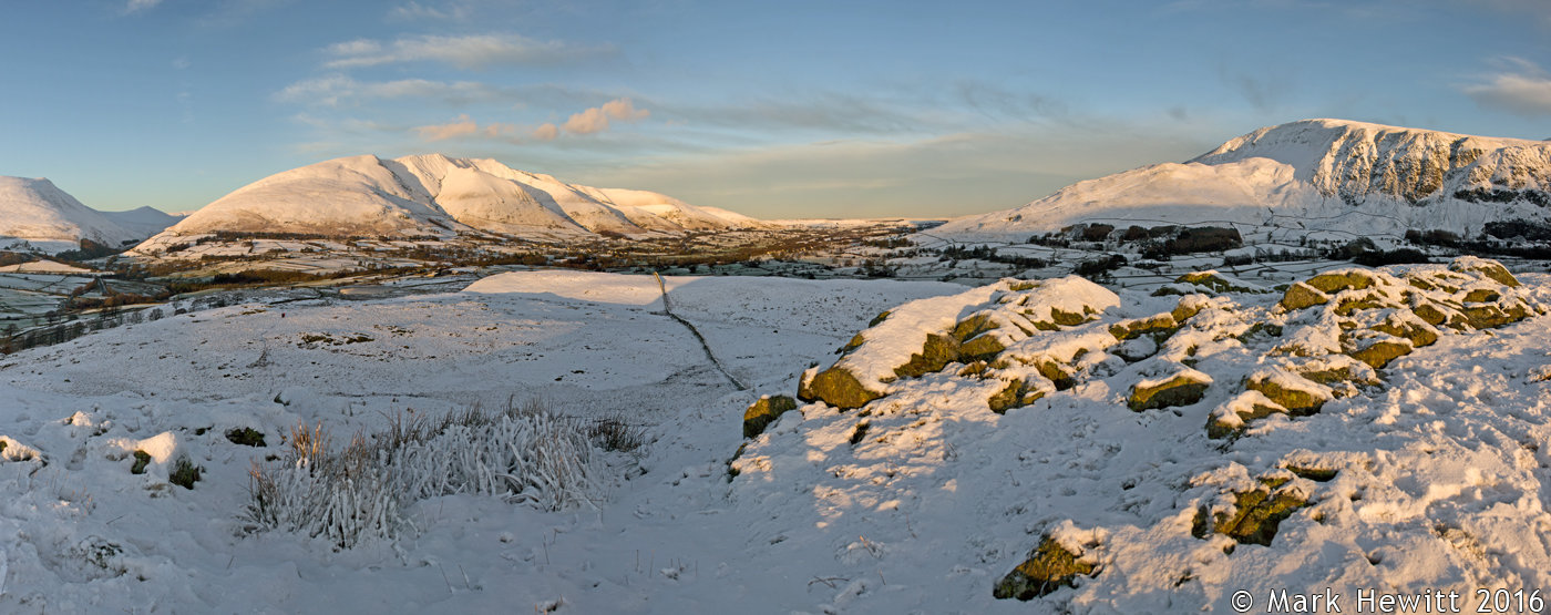 Blencathra & Clough Head From Low Rigg