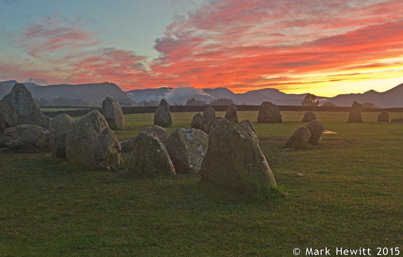 Crimson Sunset At Castlerigg Stone CIrcle