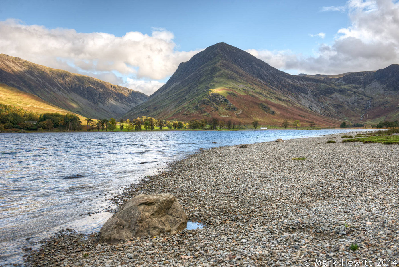 Dale Head & Fleetwith Pike From Buttermere Shoreline