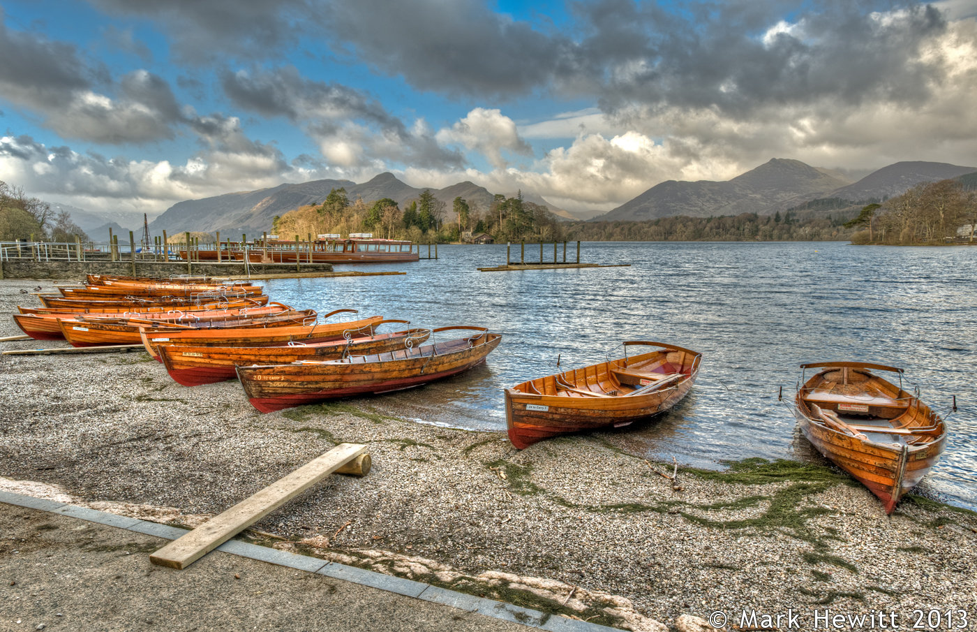 Derwentwater Foreshore Fleet Of Boats