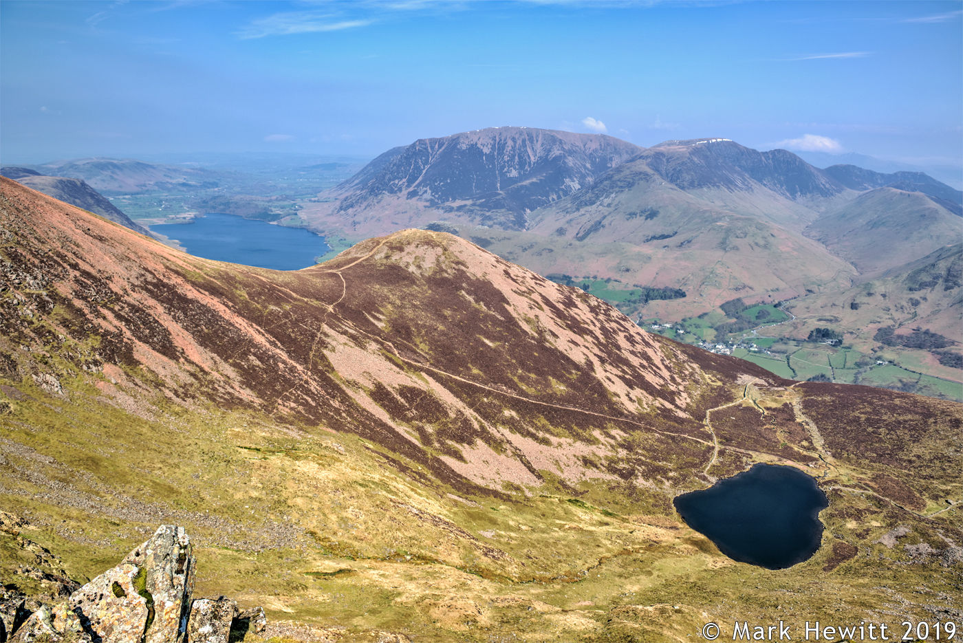 Dodd & Crummock Water From Chapel Crags