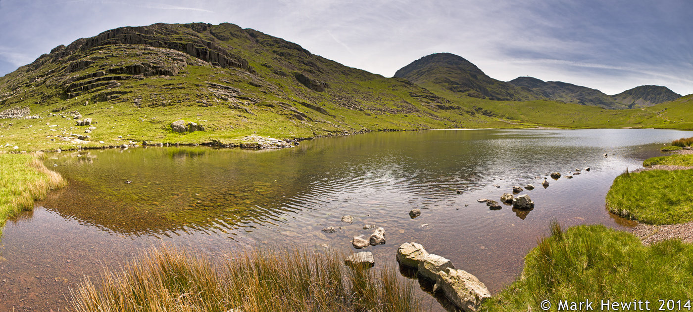 Great End & Scafell Pike From Styhead Tarn