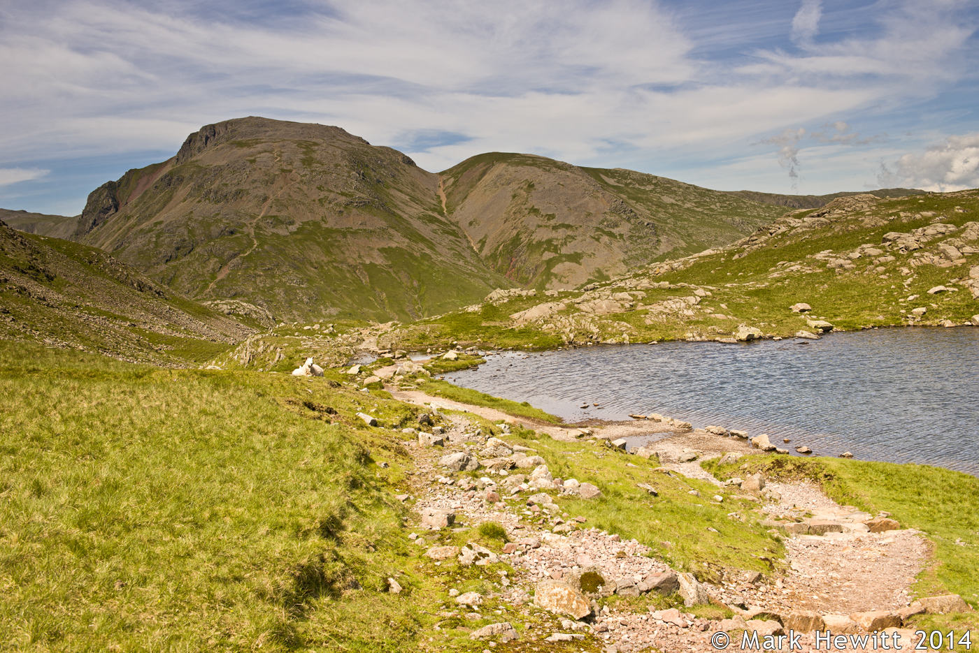 Great Gable & Green Gable From Sprinkling Tarn