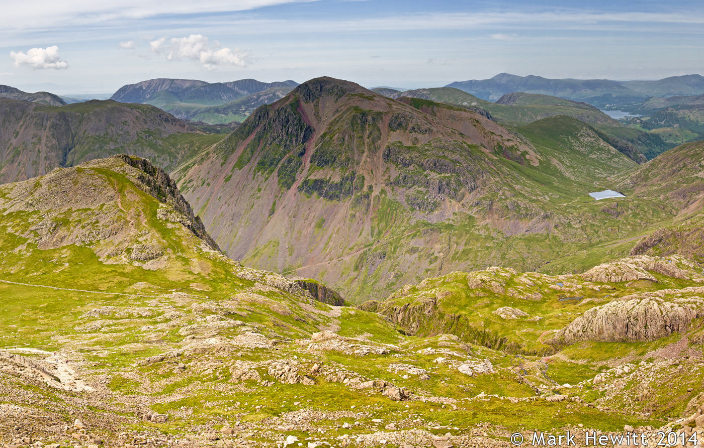 Great Gable & Styhead Tarn From Scafell Pike