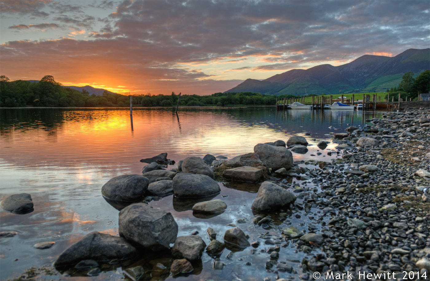 Grisedale Pike & Skiddaw From Derwentwater Launch
