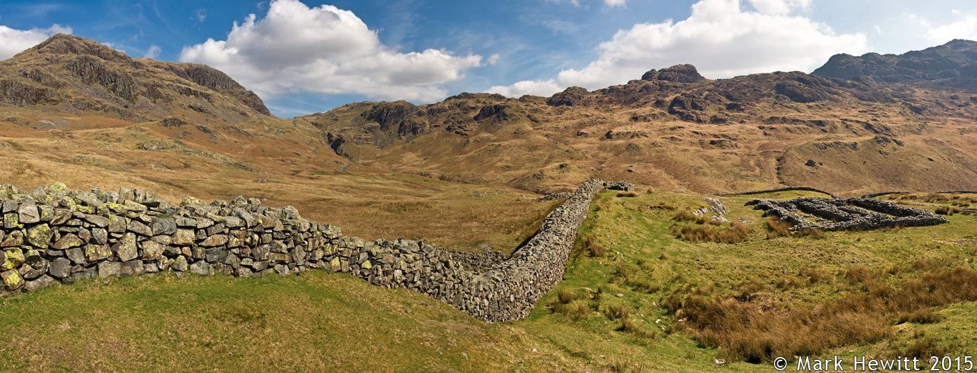 Hardknott Pass From The Roman Fort