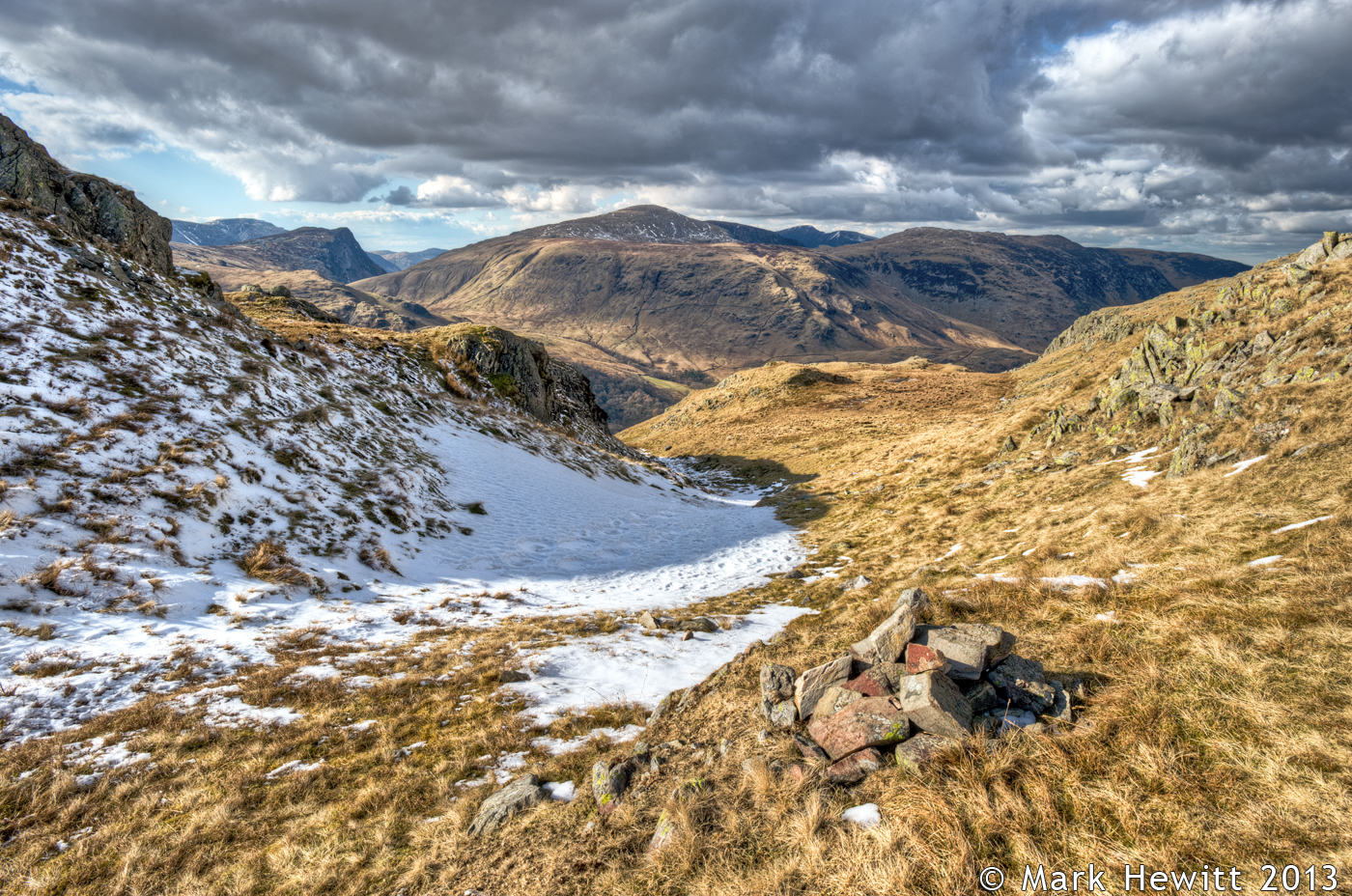 High Spy, Dale Head & Fleetwith Pike From Rosthwaite Fell