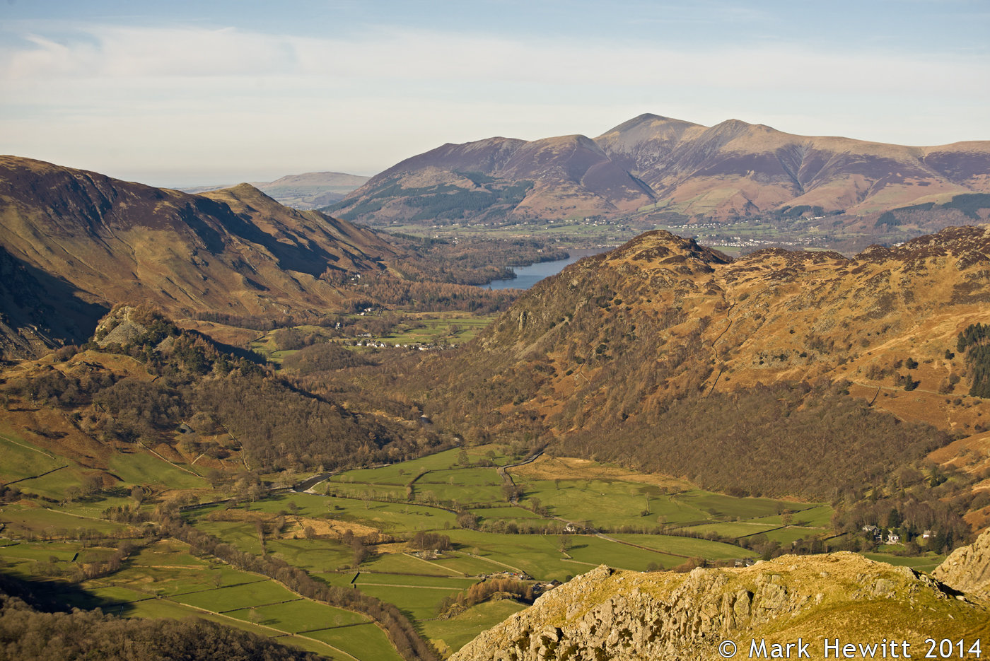 Kings How, Castle Crag, Catbells & Skiddaw From Bessyboot