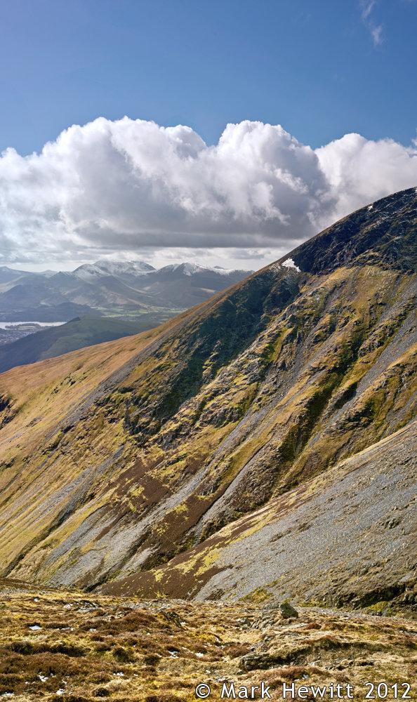 Knowe Crag From Gategill Fell