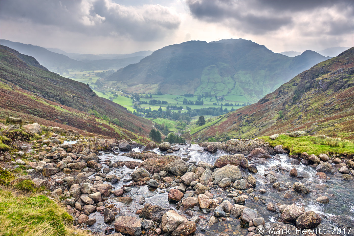 Langdale Valley From Stickle Ghyll