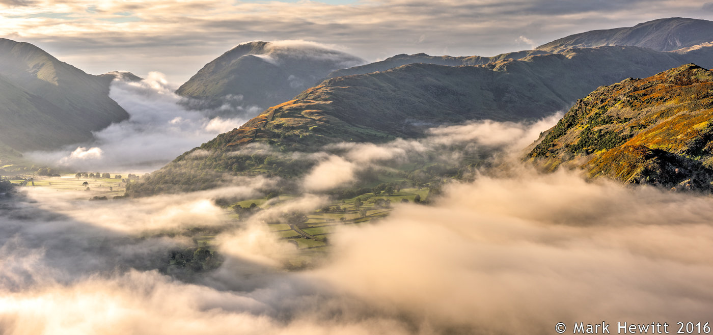 Misty View From Place Fell (Panoramic Version)
