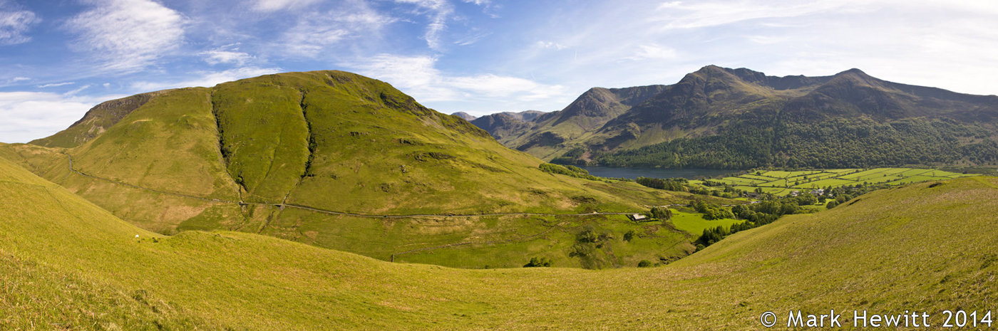 Newlands Hause & Buttermere From Low Bank
