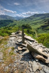 On The Edge (Borrowdale From Castle Crag)