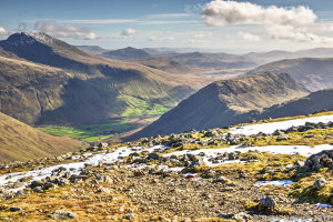 Scafell, Mosedale Valley, Burnmoor Tarn & Yewbarrow
