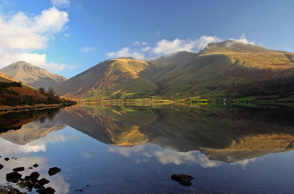 Scafell Reflection In Wastwater