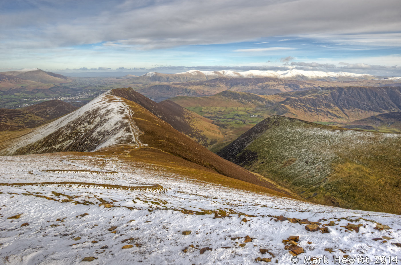 Scar Crags, Causey Pike & Ard Crags From Sail