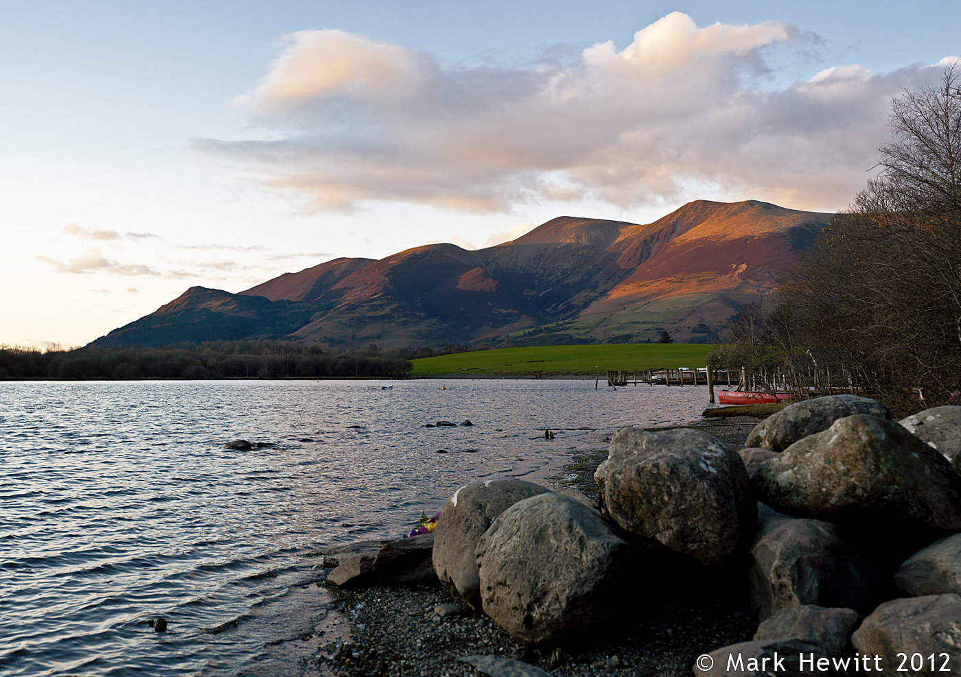 Skiddaw At Sunset From Derwentwater