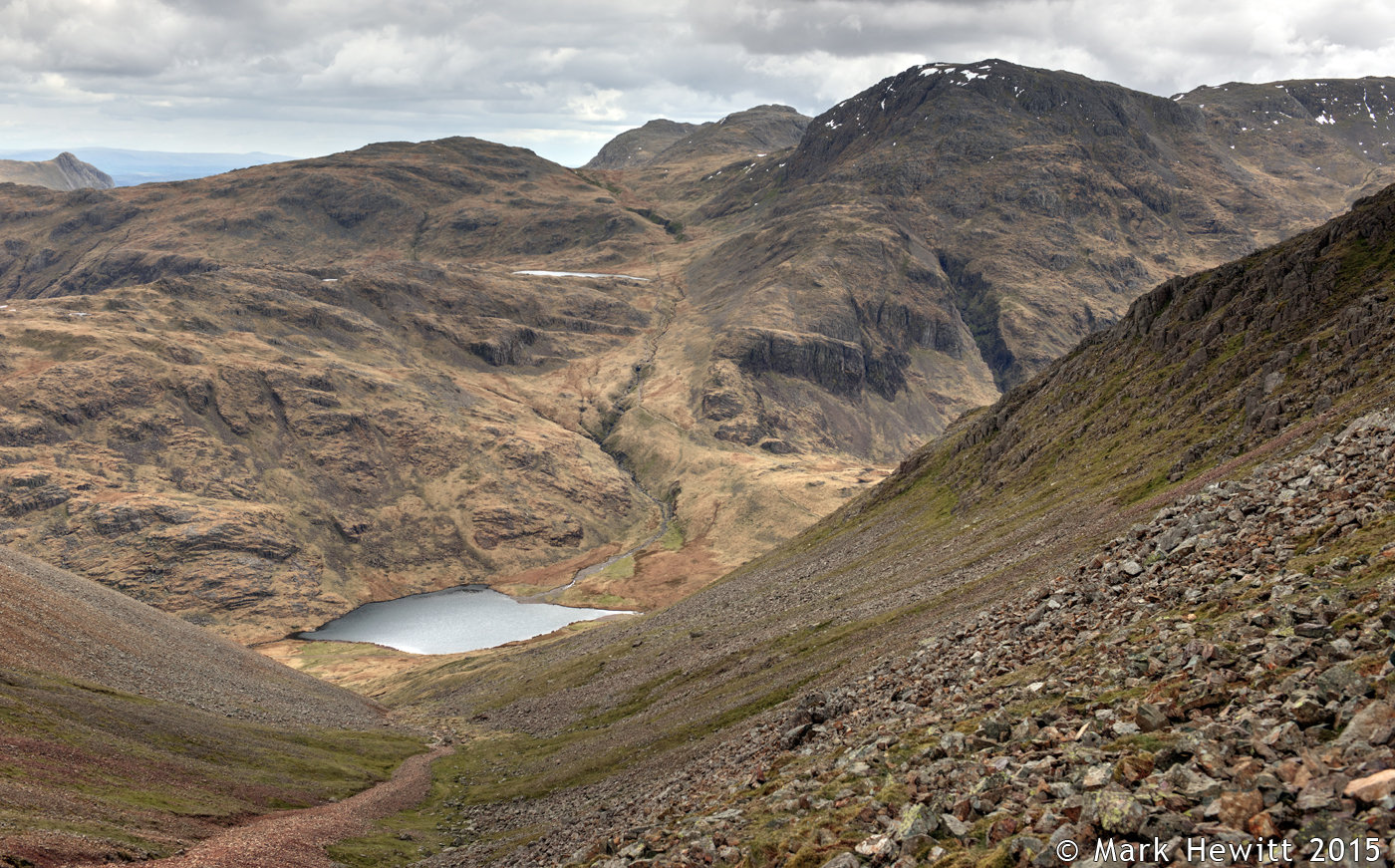 Sprinkling Tarn, Styhead Tarn & Great End From Windy Gap