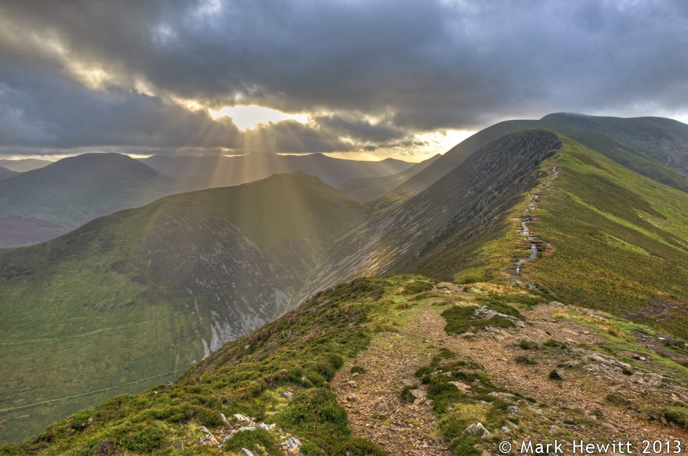 Sunbeams From Causey Pike