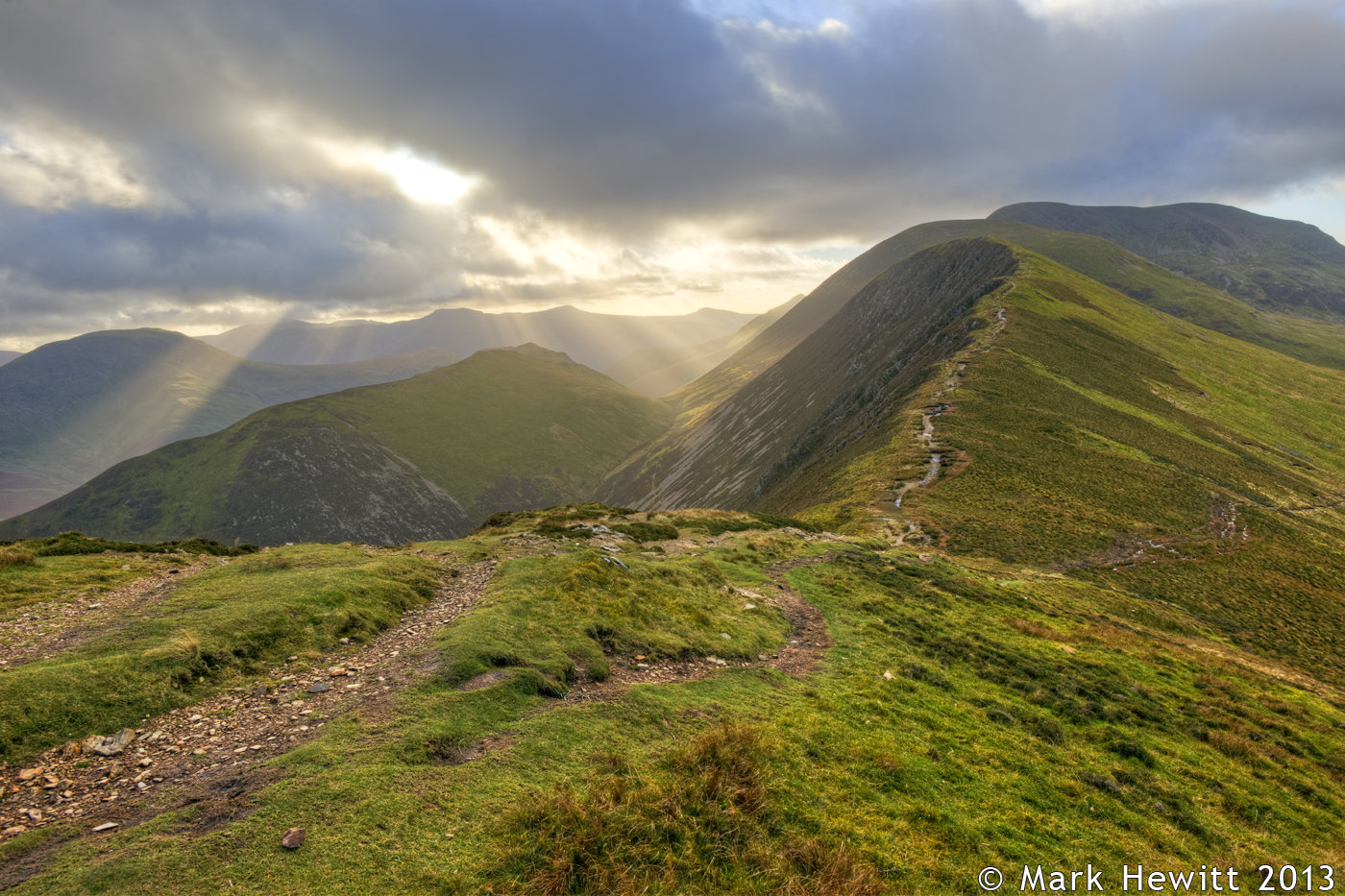 Sunbeams From Causey Pike 2