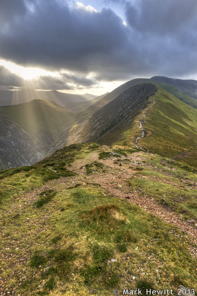 Sunbeams From Causey pike (Portrait)