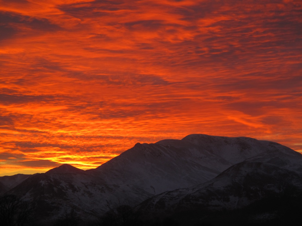 Sunset Over Causey Pike From Castlerigg