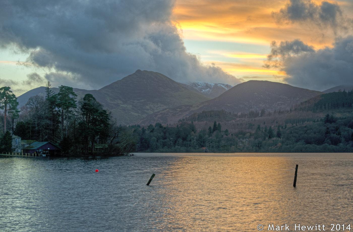 Sunset Over Causey Pike & Barrow Fell
