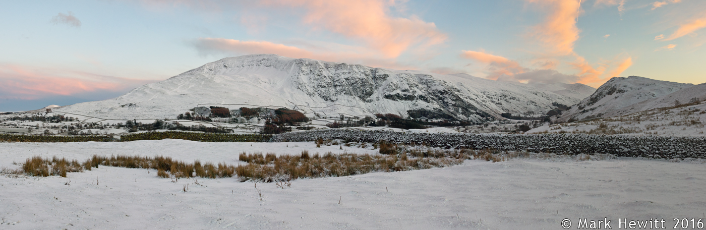 Sunset Over Clough Head From Low Rigg