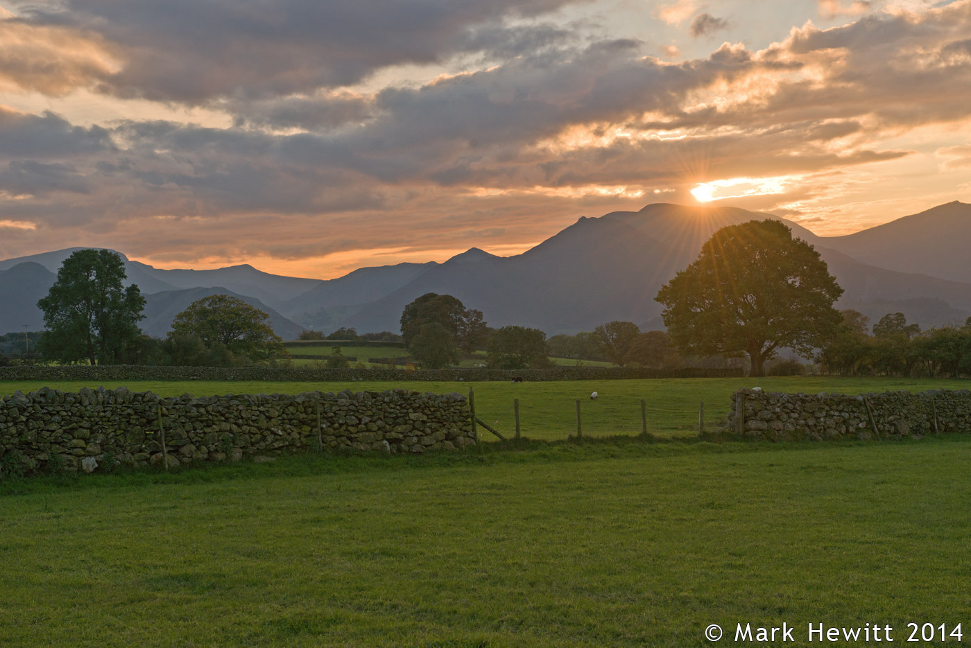 Sunset Over The Northern Fells From Castlerigg