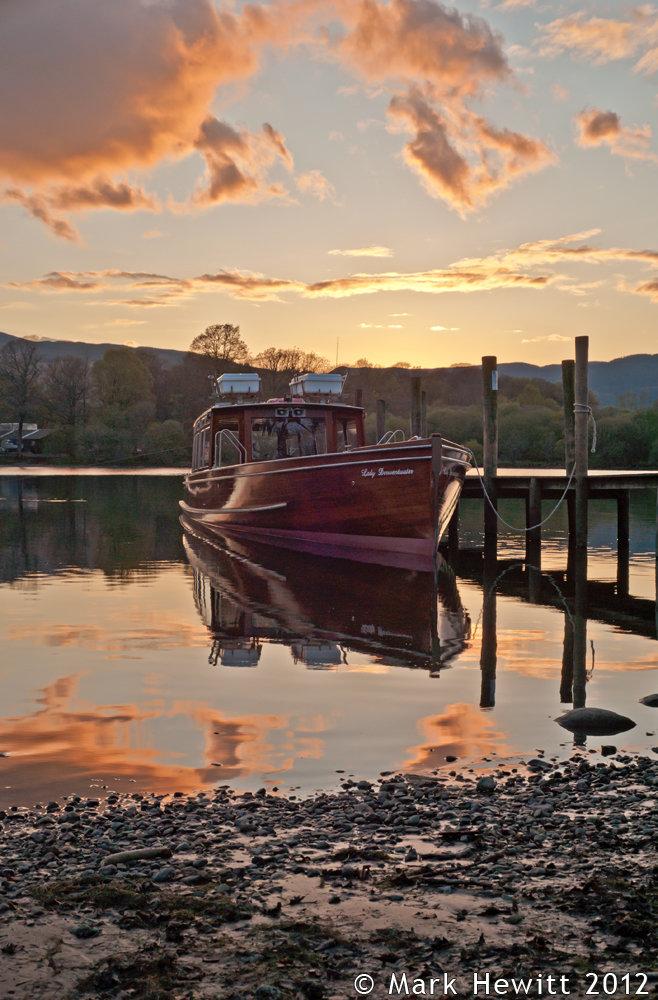 Sunset Sky Over 'Lady Derwentwater'