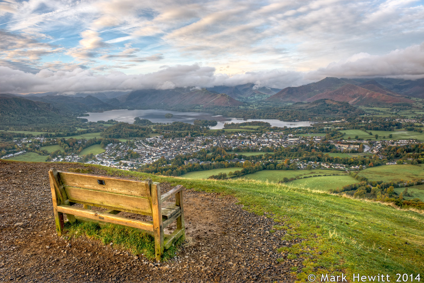 The Early Morning View From Latrigg Bench