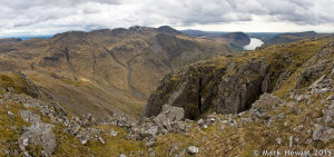 The Scafells, Lingmell & Wasdale From Great Gable