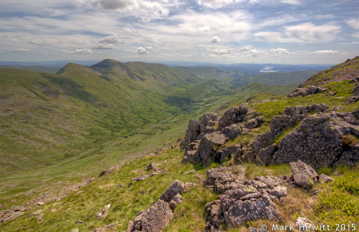 The Troutbeck Valley & Windermere From Caudale Moor