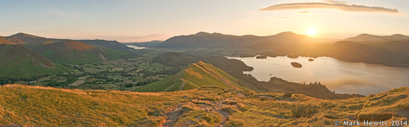 The View From Catbells At Sunrise