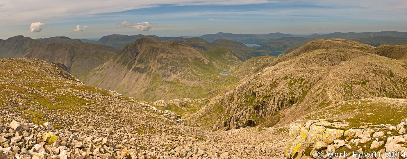 The View From Scafell Pike Summit