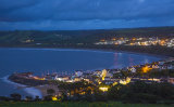 New Quay At Night From The Coastal Path