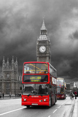 Big Ben & London Bus
