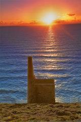 Wheal Coates Tin Mine Sunset