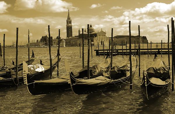 Venice St Mark;s Basin Gondollas