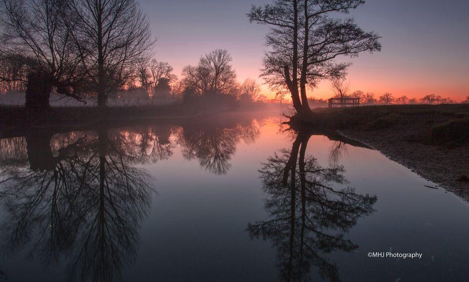 Dedham River Stour sunset