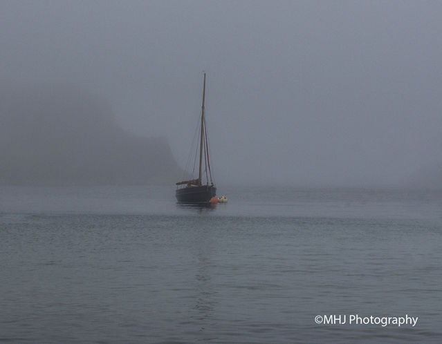 Dorset Moored in fog