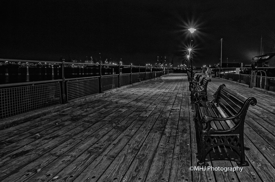 General Penny pier by moon light