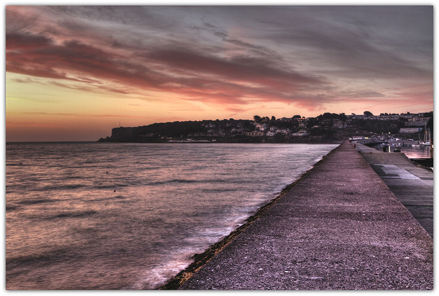 Sun Rise - end of sea wall