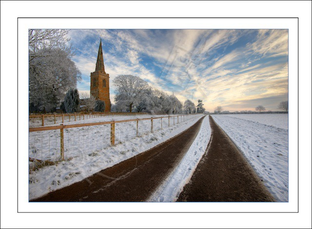 Preston Church in Winter