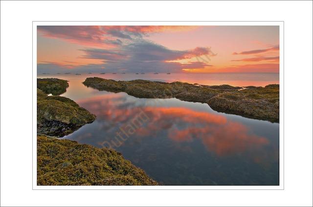 Sunrise over Cushendall Bay