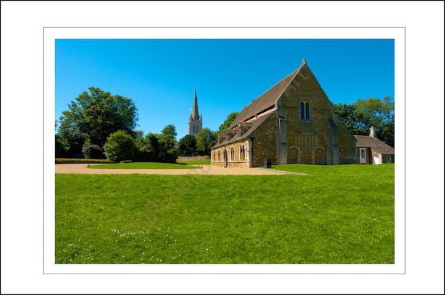 Oakham Castle and All Saints Church Spire