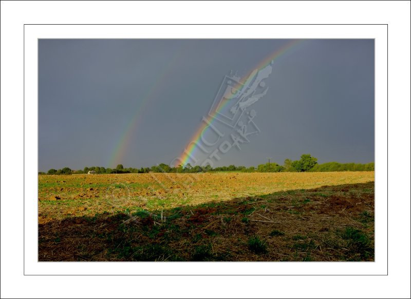 Two Rainbows over Ridlington