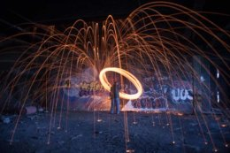 Wire wool sparky
